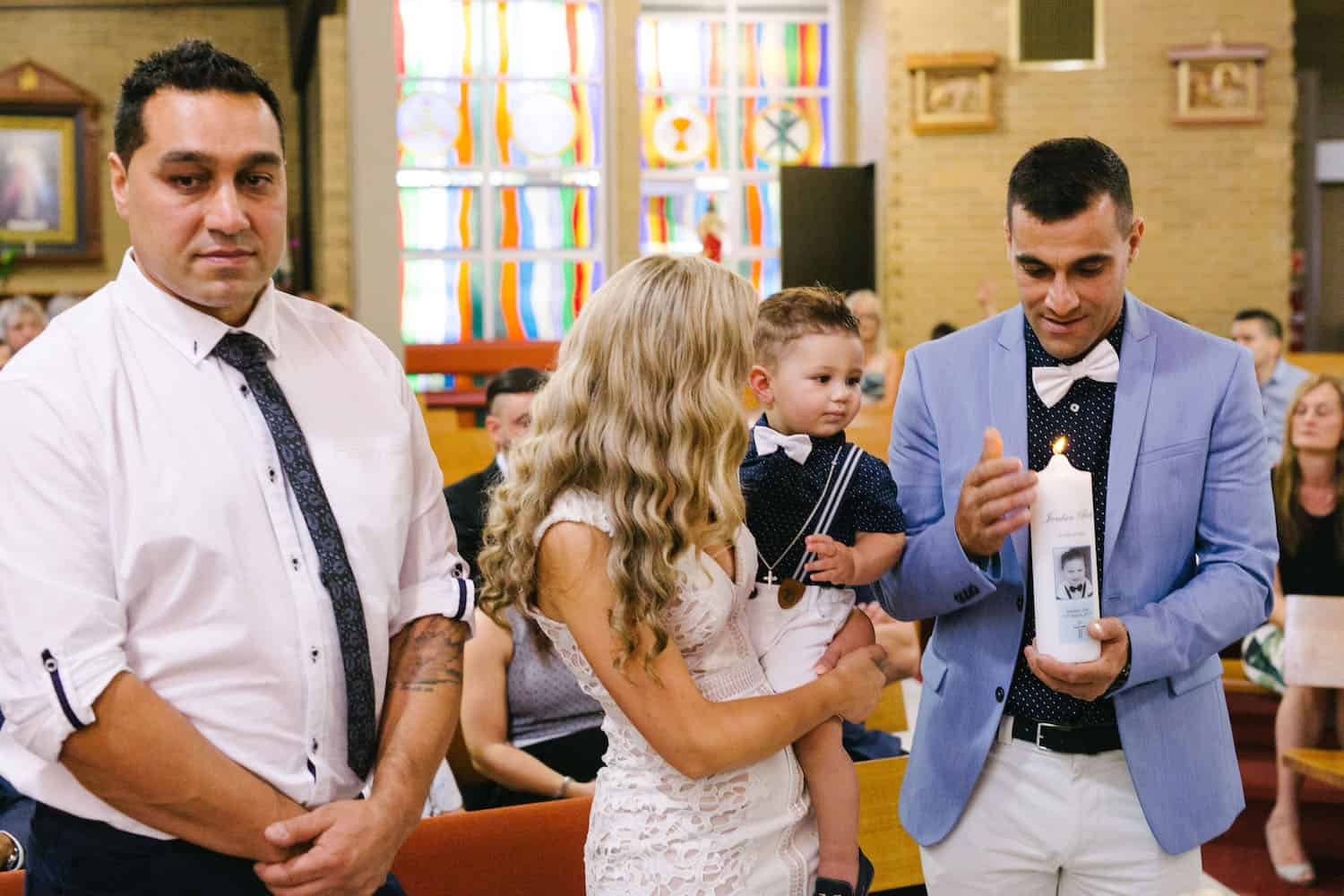 Jordans Christening at St Peter Chanel Church Blue Themed First Birthday Party Madeleine Chiller Photography