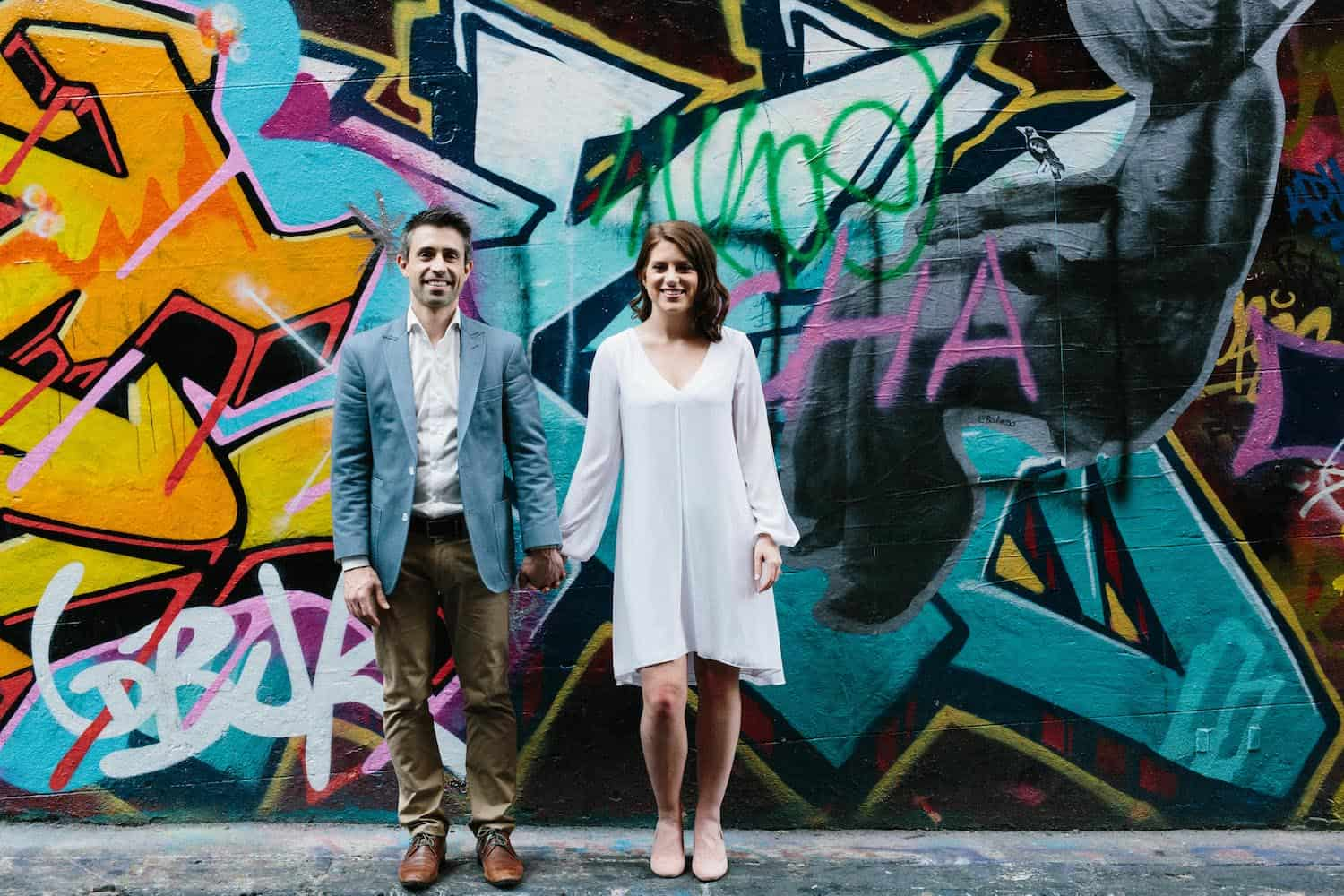 Engagement Photographer Melbourne Graffiti Walk Hosier Lane and Hardware Lane Engagement Shoot with Quila and Dave 4