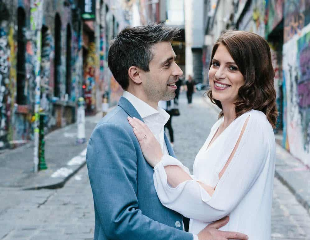 Melbourne Graffiti Walk Hosier Lane and Hardware Lane Engagement Shoot with Quila and Dave 9